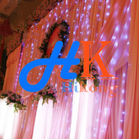 Wholesale 300 Led Bulbs Curtain Light String m m Wedding Party Holiday Ornament Xmas Decoration Flash String Fairy Lamp Lighting