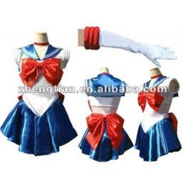 Wholesale Japan Anime Cosplay Dress With Bowknot Sexy Sailor Moon Costume Lapel Collar Hot Girl Cosplay Dress Pleated Skirt ZY487