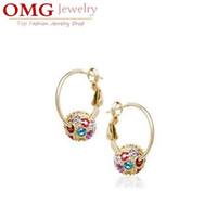 other bead drop earrings - beads locket pendant Austrian Element Crystal shamballa Style Crystal Ball Drop Earrings Fashion Woman Jewelry SKU B006