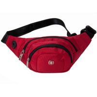 Wholesale SWISSGEAR Fashion Black Red Business Pockets Zipper Waist pack Waterproof Nylon Classic Outdoor Handbag Men s Belt Bag