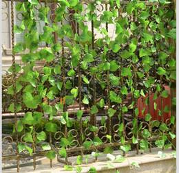 Discount Plastic Grapes Home Decor Wholesale 240cm Length Artificial Silk Plastic Simulation Climbing Vines Green
