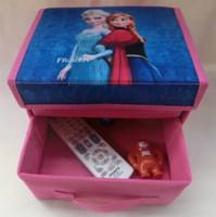 Wholesale 2014 Hot Sale Korea New Children Cartoon High Quality Locker Receive Case bin Folding Household Storage Bins Frozen Storage Boxes E0527