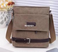 Casual, Fashion canvas water bag - 2013 fashion handbag Man bag water wash canvas cross body male shoulder bag man