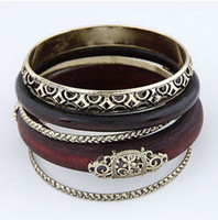 Bangle Women's Fashion min order $10European and American style wooden multilayer bracelet restoring ancient ways#_10052290
