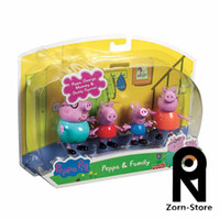 Wholesale Zorn Store Fisher Price Peppa Pig and Family Pack Family Figures Pink Pig toys for the children Christmas Gifts