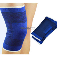 Wholesale High quality Pair fashion football basketball volleyball blue durable knee protector kneepad guard kneepads SV001755