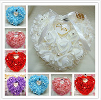 Wholesale Heart shaped Wedding Ring Pillow Wedding Ring Box Wedding Supplies Essential