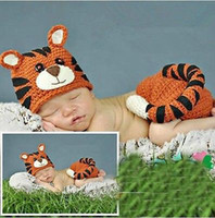 Cheap Unisex Baby Photography Best Winter Hand-knitted Animal cartoon