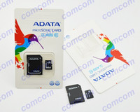 Wholesale GB ADATA Micro SD Card Class gbTF Memory Card GB Flash Micro SD SDHC Cards With Adapter ADATA Retail Package