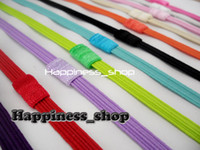 fold over elastic - Hair accessory Inch Skinny Thin FOE Fold Over Elastic Interchangeable Loop Headbands Baby Girl Kids color