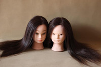 Wholesale New Arrival High Quality Hairdressing Training Mannequin Head Synthetic Fiber Hair Wig Cheap Price