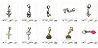 Wholesale Floating Locket Charms Tibetan Silver Pendants Mix Styles Dangle Necklace Pendants Fit Floating Locket Necklace Bracelet With Lobster Clasp