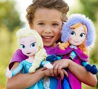 Wholesale 2014 New Frozen Dolls cm Elsa Anna Dolls Frozen Plush Toys Brinquedos Baby Dolls for Girls EMS