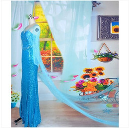 Wholesale Adult and Child Sexy Frozen Cosplay Costumes Elsa and Anna Dresses Custom made Movie Cosplay Costume Princess Elsa Dress from Movie Frozen