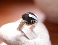 Band Rings Celtic Women's (Min order is $10) Square black agate stone crystal ring for woman