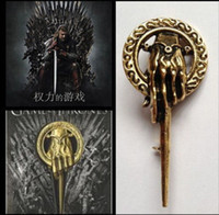 Wholesale Game Of Thrones King s Hand Brooch Pin Fashion Film Jewelry