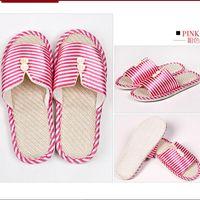 Flip Flops Unisex Winter Fashion soft outsole family warm winter stripe slippers cotton shoes Cartoon panda Indoor warm cotton slippers C14
