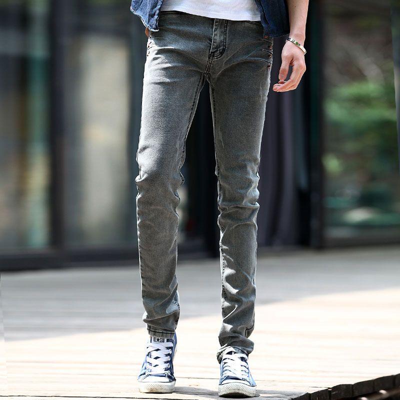 2017 Close Fitting Men Jeans Korean Design Design For Long Legs ...
