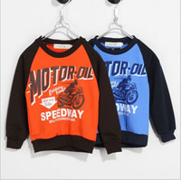 Boy motorcycle shirt - children clothes fall autumn cartoon boy cotton motorcycle kids clothing T shirt sweater dandys