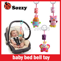 Cloth toddler bed - MN Baby toy baby bed bell toy bed to hang the bell baby rattles toddler toys animals chose SOZZY C005