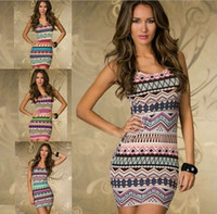 Wholesale 2014 women s vintage printed casual dress Fashion Women Sexy Vintage Printed Cute Dress Summer Casual Dress Sexy Lingerie