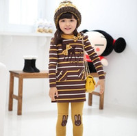Wholesale Childrens grils babys kids new spring autumn long sleeve printed bow T shits Rabbit pants outfits sets suit LY