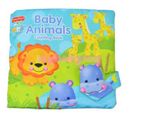 Wholesale MN Animal Counting Book Tearproof Color Picture D Cloth book cm baby Book early development