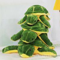 Reptiles Green Plush 20cm 1PC Tortoise Toys Kids Baby Cartoon Plush Doll Comfortable Animal Pillow Stuffed Christmas Gift