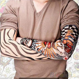 Wholesale 6 Men sleeves fashion Temporary Fake Slip On fake Tattoo Arm Sleeves Kit Sleeves pinarello