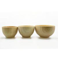 Wholesale Fashion tableware sets wooden dinnerware Children dinnerware White Birch bowl burlywood size cm cm cm set