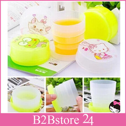 Wholesale New Mini travel folding plastic cartoon water cup mix color