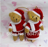 Wholesale 12cm lovers Christmas Bear Plush Toy Doll Christmas gifts