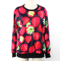 Women Pullover Yes 3D Super Strawberry plant flowers women's sweatshirt sport suit pullovers and sweaters loose men sweater O-Neck women hoody coat