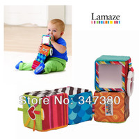 Wholesale 50pcs Hot Sale Lamaze multicolor cloth matarial educational building blocks for baby by EMS