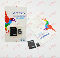 Wholesale GB ADATA Micro SD Card Class TF Memory Card Flash gbMicro SD SDHC Cards With Adapter ADATA Retail Package