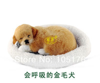White pampers - pampered petz pet mate breathing dog Golden Retriever cute toy sleeping pet emulational mini lifelike lively visual vivid toy