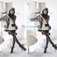 Lycra High Casual Fashion Black Leather Tregging Ladies' Leggings Shiny Pants ,