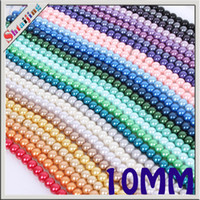 Wholesale Wholesales mm Mix color Glass Spacer Pearl Round Cheap Beads Hole Size mm Accessories for Diy Jewelry Findings