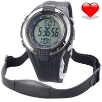 Sport Unisex Heart Rate Monitor Chest Strap Pedometer Heart Rate Calories Digital Sports Watch with LCD Monitor Exercise Memory Mode Stopwatch 3ATM Water Resist