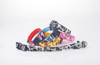 Wholesale 50pcs new arrival colors Camouflage LED flashing dog collar LED pet collar necklace cat collar H203