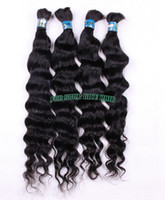 Wholesale Unprocessed Virgin Brazilian Deep Wave Human Wavy Hair Bulks For Braiding Natural Curly Human Hair Extensions DHL
