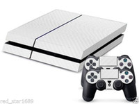 36271   New Cool Carbon Fiber Sticker For PS4 Console 2Controller Skin Decal White Free shipping