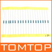 1280pcs 64 Valores 1 ohm - 10M ohm 1 / 4W Resistores de película metálica Surtido Kit Set