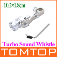 Wholesale NEW Universal Turbo Sound Exhaust Muffler Pipe Whistle Fake Blow off BOV Simulator Whistler Size S cm