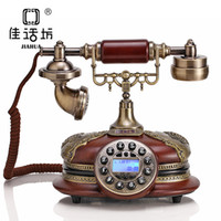 Wholesale Story upscale antique retro telephone Square smooth resin antique craft seat telephone office gifts
