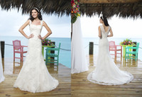 Trumpet/Mermaid Reference Images Sweetheart High Quality 2015 Justinalexander Mermaid Wedding Dresses Shoulder strap Lace Appliques Beads Court Train Covered Button Bridal Gowns 3770