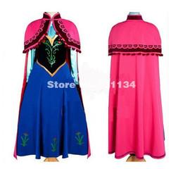 La réalisation de films en Ligne-2017 Movie Cosplay Fatasia Festa Anna Costumes Adulte Enfant Princesse Anna Costume Femme Anna Dress Custom Made