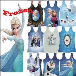 Wholesale 10 COLOR Cozy Slim Fitness Camisole Women Galaxy Cartoon Frozen Tank Top Digital Camis Frozen A171