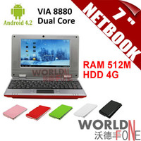 Wholesale 2014 New inch Netbook Mini Laptop VIA8880 Dual Core PC Android GHz Wifi M RAM GB HDD HDMI Russian Keyboard Option