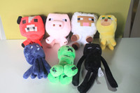 Wholesale Minecraft Enderman creeper Mooshroom sheep squid cow pink doll pig quot Baby Pig Piggy Stuffed toys styles